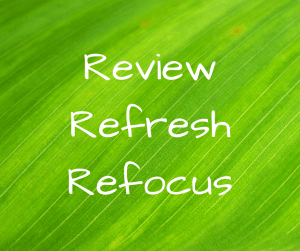 New Year Review Refresh Refocus